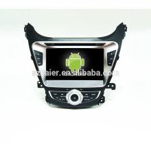 HOT! Carro dvd com espelho link / DVR / TPMS / OBD2 para 8 polegada tela sensível ao toque quad core 4.4 sistema Android HYUNDAI ELANTRA