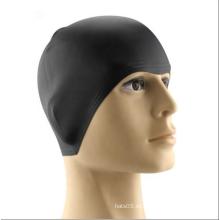 Gorro de natación de silicona impermeable de alta calidad para pelo largo
