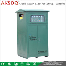 Venta caliente SBW 500kva 50Hz 60Hz Servomotor Atomatic Alta Eficiencia Compensada Estabilizador De Voltaje De CA De Energía YueQing Fabricante