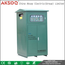 Hot SBW Three Phase Servo Motor Automatic AC Voltage Stabilizer Used In Building Site Made In China