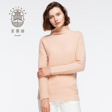Women's stand neck pure cashmere sweater