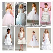 Moda Vestidos de vestido de menina de flor Atacado Vestido de verão de bebé com arco para trás
