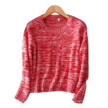Frauen kurze Pullover verschiedene Farben 100% Kaschmir O-Ansatz Mode Pullover