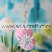 Largest Selection of 18CM Transparent Plastic Crystal  Octagon Flower Light Beaded Garland Prism