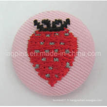 Insigne de bouton de bidon de broderie de haute qualité avec le tissu (bouton badge-60)