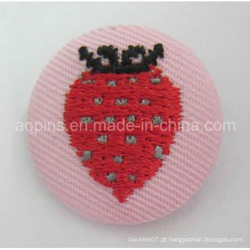 Emblema de botão de lata de bordado de alta qualidade com tecido (botão distintivo-60)