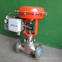venta caliente POV hizo brida válvula de control de diafragma accionada por aire 4-20ma