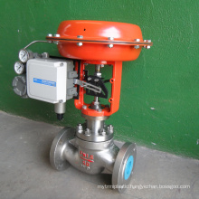 hot sale POV made flanged air-powered diaphragm control valve 4-20ma