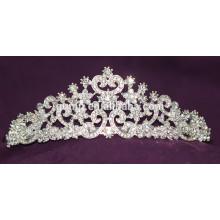 Gute Qualität Mini Discount Mode Custom Hochzeit Tiara glänzend Kristall Braut Krone