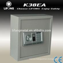 Electronic key cabinet to storage the keys with 55 key hooks inside