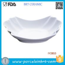 Assiette en céramique porcelaine blanche en porcelaine