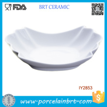 Ceramic White Porcelain Plate Bone China