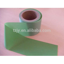 100%polyester backing material green reflective fabric