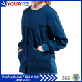 Custom Hospital Healthcare Workwear Warm up Snap Front Scrub Jacket (YHS114)