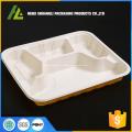 4 отсека устранимая пластичная коробка еды