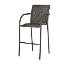 Resin Wicker Garden Furniture Outdoor Rattan Bar Stool Chair