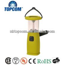 Plástico 6 levou solar dínamo camping lanterna
