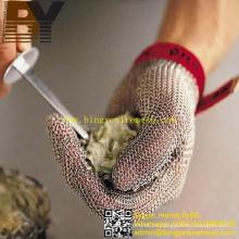 Chainmail Metal Butchers Gloves Guantes de acero inoxidable resistentes al corte