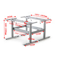 Modern and Fashion Electric Height Adjustable Lift Computer Table for Two Persons