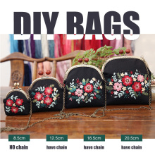 Ribbon Embroidery Flowers Bags Purse Handbag Gifts