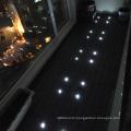 Solar LED light outdoor WPC interlocking deck tile