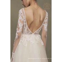 Venda quente nupcial vestido de baile vestido de noite vestido de festa de casamento