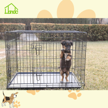 Indoor or outdoor small folding dog cages for sale with high quality