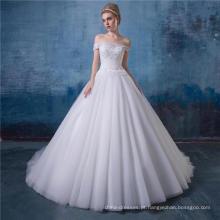 Fora do ombro a linha de renda vestido de noiva vestido de noiva mais recente projeto HA581