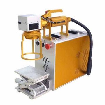 Máquina de grabado de pulsera de metal de código de barras láser de tablero de plástico de mano