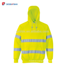 China Factory Reflective Apparel Safety Hooded Sweatshirt In Autumn Hi Visibility Road Work Hoodie ANSI 3
