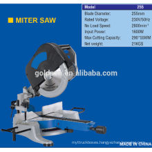 255mm 1600w Head Detachable Induction Motor Aluminum Wood Cutting Portable Electric Miter Saw Machine