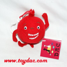 Plush Stuffed Red Pomegranate Key Ring
