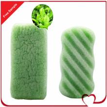 Губка из целлюлозы, зеленый чай, 100% натуральные овощи, растительное растение, губка Konjac для очищения тела ребенка, любимая