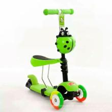 3 Rad Falten Kinder Kick Roller mit verschiedenen Farben
