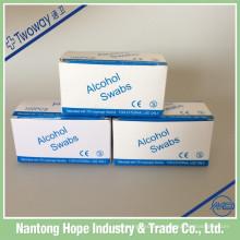 Almohadilla de preparación de alcohol estéril no tejido médico 2ply