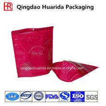 Levántese la bolsa de empaquetado impresa de la ropa plástica con la cremallera