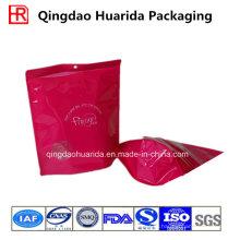 Стоьте вверх напечатанные Пластиковые одежды Упаковка мешок с застежкой-молнией