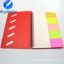 Caderno espiral de venda quente com bloco de notas pegajoso