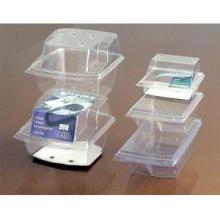 Caixa de embalagem de plástico transparente para armazenamento de alimentos