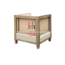 Canapé cube avec cadre en bois