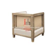 Sofá cubo com moldura de madeira
