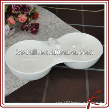 bird design white porcelain snacks service bowl
