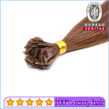 Brown Color All Colors Flat Tip Human Hair Extensions Brazilian Remy Virgin Hair