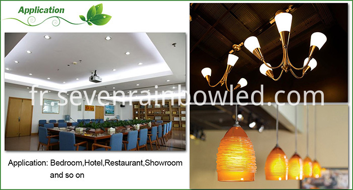 Application of LED corn bulb