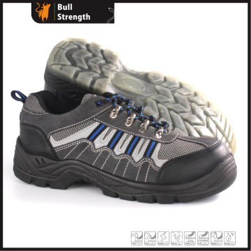 Low Cut Suede Leather Safety Shoe with Steel Toe (SN5385)