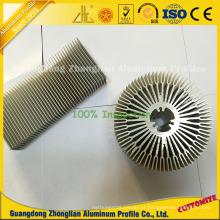 Dissipador de calor retangular das aletas da oferta do diodo emissor de luz com perfis de alumínio da extrusão