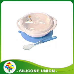Heat-Resistance Suction Silicone Feeding Baby Bowl