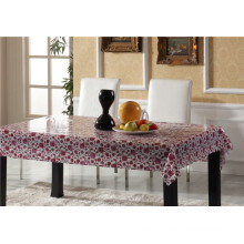PVC Material Transparent Tablecloth with Printed Pattern and Waterproof Oilproof Feature