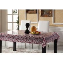 Toalha de mesa transparente material de PVC com padrão impresso e Oilproof impermeável
