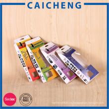 Caja de papel de empaquetado electrónica plegable de encargo de alta calidad con la ventana del PVC